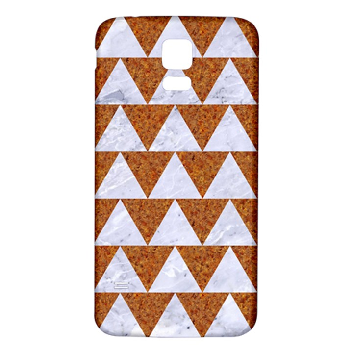 TRIANGLE2 WHITE MARBLE & RUSTED METAL Samsung Galaxy S5 Back Case (White)