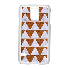 Triangle2 White Marble & Rusted Metal Samsung Galaxy S5 Case (white)