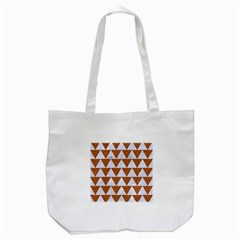TRIANGLE2 WHITE MARBLE & RUSTED METAL Tote Bag (White)