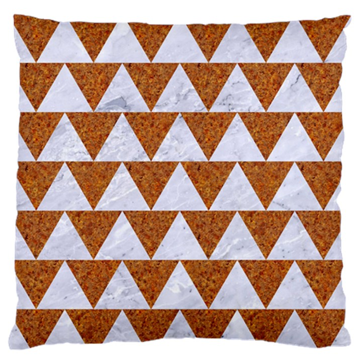 TRIANGLE2 WHITE MARBLE & RUSTED METAL Standard Flano Cushion Case (Two Sides)