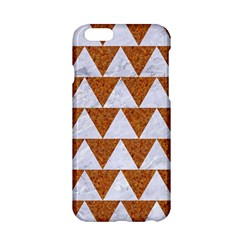 TRIANGLE2 WHITE MARBLE & RUSTED METAL Apple iPhone 6/6S Hardshell Case