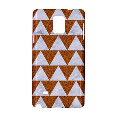 TRIANGLE2 WHITE MARBLE & RUSTED METAL Samsung Galaxy Note 4 Hardshell Case