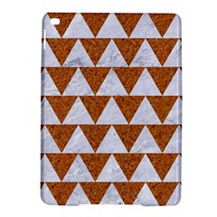TRIANGLE2 WHITE MARBLE & RUSTED METAL iPad Air 2 Hardshell Cases