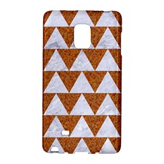 Triangle2 White Marble & Rusted Metal Galaxy Note Edge