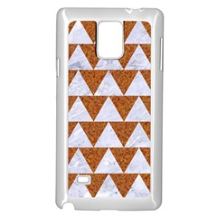 TRIANGLE2 WHITE MARBLE & RUSTED METAL Samsung Galaxy Note 4 Case (White)