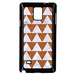 TRIANGLE2 WHITE MARBLE & RUSTED METAL Samsung Galaxy Note 4 Case (Black) Front