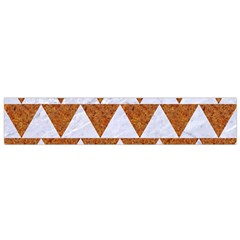 TRIANGLE2 WHITE MARBLE & RUSTED METAL Small Flano Scarf