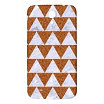 TRIANGLE2 WHITE MARBLE & RUSTED METAL Samsung Galaxy Mega I9200 Hardshell Back Case Front