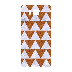 TRIANGLE2 WHITE MARBLE & RUSTED METAL Samsung Galaxy Alpha Hardshell Back Case