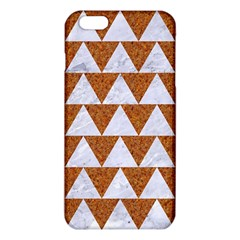 Triangle2 White Marble & Rusted Metal Iphone 6 Plus/6s Plus Tpu Case