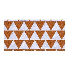 TRIANGLE2 WHITE MARBLE & RUSTED METAL Satin Wrap