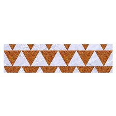 TRIANGLE2 WHITE MARBLE & RUSTED METAL Satin Scarf (Oblong)