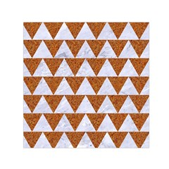 TRIANGLE2 WHITE MARBLE & RUSTED METAL Small Satin Scarf (Square)