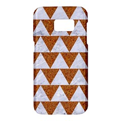 TRIANGLE2 WHITE MARBLE & RUSTED METAL Samsung Galaxy S7 Hardshell Case