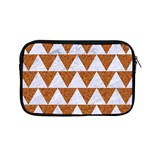 TRIANGLE2 WHITE MARBLE & RUSTED METAL Apple MacBook Pro 13  Zipper Case Front