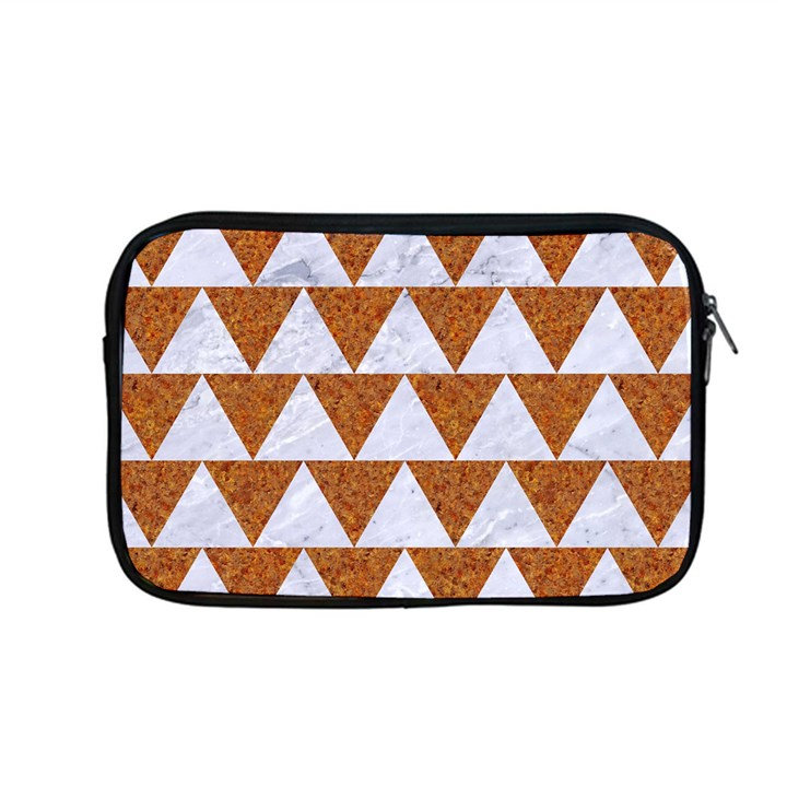 TRIANGLE2 WHITE MARBLE & RUSTED METAL Apple MacBook Pro 13  Zipper Case