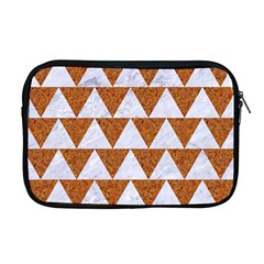 Triangle2 White Marble & Rusted Metal Apple Macbook Pro 17  Zipper Case