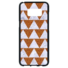 TRIANGLE2 WHITE MARBLE & RUSTED METAL Samsung Galaxy S8 Black Seamless Case