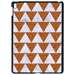 TRIANGLE2 WHITE MARBLE & RUSTED METAL Apple iPad Pro 9.7   Black Seamless Case Front
