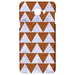 Triangle2 White Marble & Rusted Metal Samsung C9 Pro Hardshell Case  by trendistuff