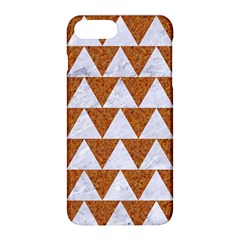 Triangle2 White Marble & Rusted Metal Apple Iphone 8 Plus Hardshell Case
