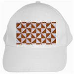 TRIANGLE1 WHITE MARBLE & RUSTED METAL White Cap