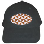 TRIANGLE1 WHITE MARBLE & RUSTED METAL Black Cap