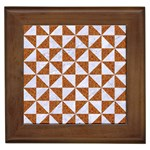 TRIANGLE1 WHITE MARBLE & RUSTED METAL Framed Tiles