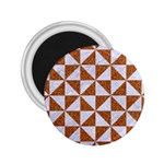 TRIANGLE1 WHITE MARBLE & RUSTED METAL 2.25  Magnets