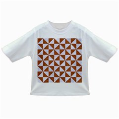 TRIANGLE1 WHITE MARBLE & RUSTED METAL Infant/Toddler T-Shirts