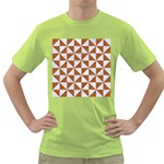 TRIANGLE1 WHITE MARBLE & RUSTED METAL Green T-Shirt