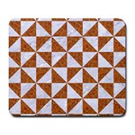 TRIANGLE1 WHITE MARBLE & RUSTED METAL Large Mousepads