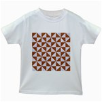 TRIANGLE1 WHITE MARBLE & RUSTED METAL Kids White T-Shirts