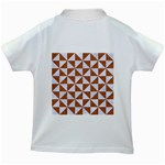 TRIANGLE1 WHITE MARBLE & RUSTED METAL Kids White T-Shirts Back