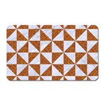 TRIANGLE1 WHITE MARBLE & RUSTED METAL Magnet (Rectangular) Front