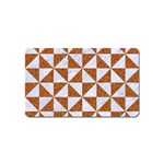 TRIANGLE1 WHITE MARBLE & RUSTED METAL Magnet (Name Card)