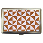 TRIANGLE1 WHITE MARBLE & RUSTED METAL Cigarette Money Cases