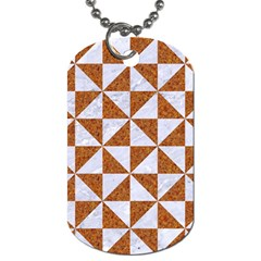 Triangle1 White Marble & Rusted Metal Dog Tag (two Sides) by trendistuff