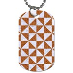 TRIANGLE1 WHITE MARBLE & RUSTED METAL Dog Tag (Two Sides) Front