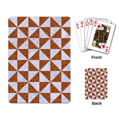 Triangle1 White Marble & Rusted Metal Playing Card by trendistuff