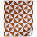 TRIANGLE1 WHITE MARBLE & RUSTED METAL Canvas 16  x 20   20 x16 Canvas - 1