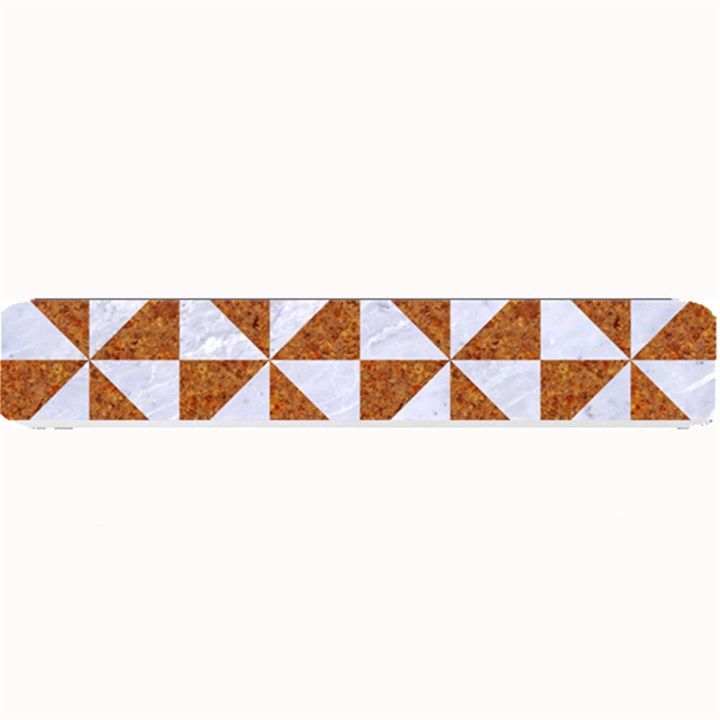 TRIANGLE1 WHITE MARBLE & RUSTED METAL Small Bar Mats