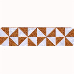 Triangle1 White Marble & Rusted Metal Large Bar Mats