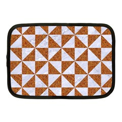 TRIANGLE1 WHITE MARBLE & RUSTED METAL Netbook Case (Medium)