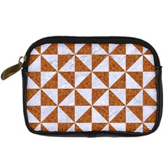 TRIANGLE1 WHITE MARBLE & RUSTED METAL Digital Camera Cases