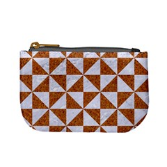 Triangle1 White Marble & Rusted Metal Mini Coin Purses