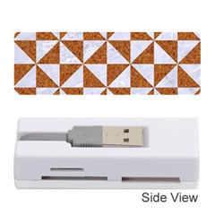 TRIANGLE1 WHITE MARBLE & RUSTED METAL Memory Card Reader (Stick)