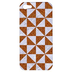 Triangle1 White Marble & Rusted Metal Apple Iphone 5 Hardshell Case