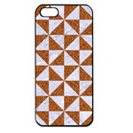 TRIANGLE1 WHITE MARBLE & RUSTED METAL Apple iPhone 5 Seamless Case (Black) Front