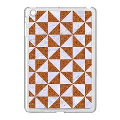 TRIANGLE1 WHITE MARBLE & RUSTED METAL Apple iPad Mini Case (White)